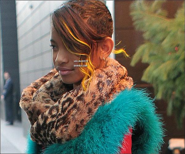 . 05/12 : Willow Smith à été aperçue avec un look d'enfer, se rendant au 106&Park dans les rues de New York City.   + Willow Smith durant son interview chez Ryan Seacrest a annoncer que le clip de Fireball sortirai le 7 Décembre.  Ton avis ?!.   .