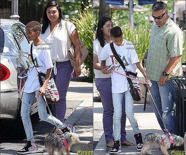 . 16/06 :  Miss et ses nouvelles plaquettes dentaires promenant sa chienne et allant s'acheter des choses en Calif.     Willow toute belle avec ses plaquettes dentaires elle était toute belle avec  son t-shirt Tysa et son jeans juste superbe. BigTop!      .