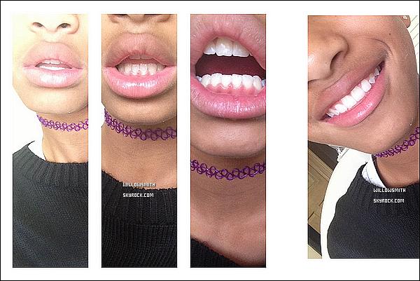 ......  Willow a enlever son appareil dentaire, elle a posté deux nouvelles photos sur Tumblr.    ......