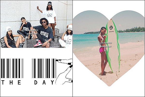. 18/06 : Willow à été photographiée avec sa famille profitant du bon temps en faisant du surf et du Kayak à Hawaii.  Willow est toute belle avec sa tenue de plage elle lui va a ravir j'ai trouver que ça comme photos je rajouterai d'autres si il y en a.        .