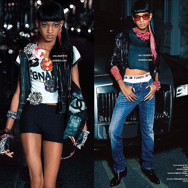 ......  Découvrez le nouveau sublime photoshoot de notre fashionista Willow pour « V Magazine » ! Ce photoshoot a été réaliser à Paris par Karl Lagarfeld en octobre 2013 dernier. Autant dire que c'est un photoshoot sublime très réussis !    ......