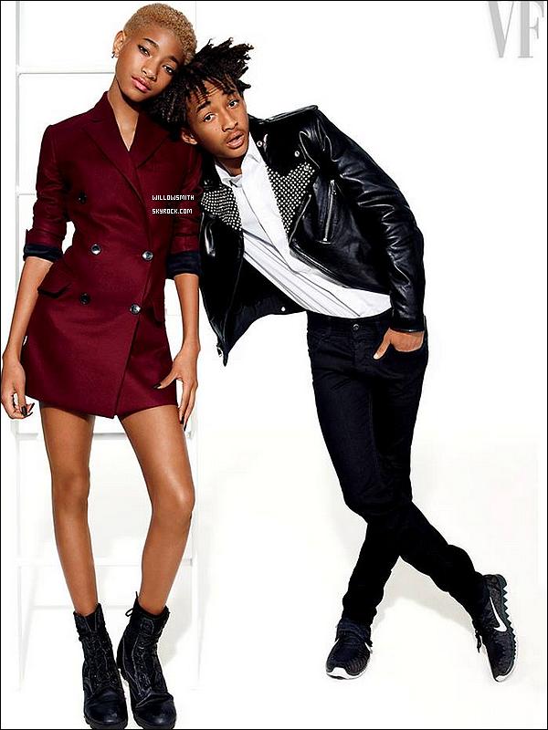 """......  Willow et Jaden en couverture du magazine """"Vanity Fair"""" pour le mois de Juillet 2014! Ce célèbre magazine a consacré une page intitulé Next Wave où Willow et Jaden sont en vedette et ont été cité comme les stars de demain (l)    ......"""