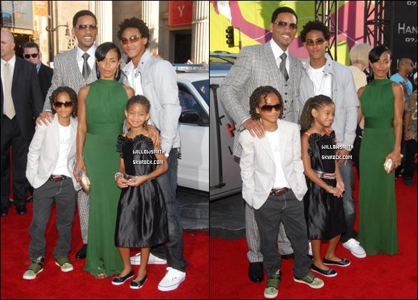 """. 30 Juin 2008 :   Willow et sa famille étaient a la première de """"Hancock"""" à Los Angeles. ."""