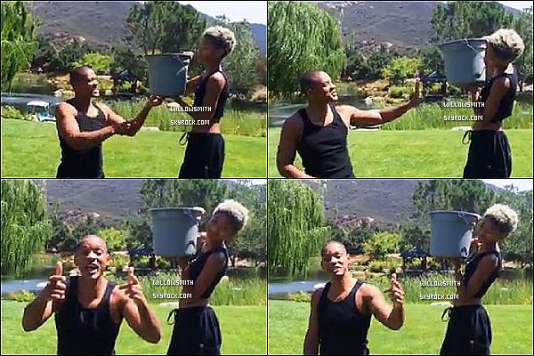 ......  Comme beaucoup d'autres célébrités Willow a fait le #ALSIceBucketChallenge , mais c'est a son papa qu'elle a jeté un seau d'eau ou il a nominé Jay-Z et Beyoncé !     ......