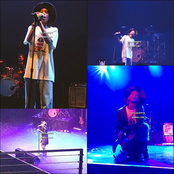 """. Découvrez les dernières photos de concert de Willow au Club Nokia de Los Angeles pour le """"Enter The Void Tour"""".  Willow est géniale sur scène, elle s'est d'ailleurs très bien amuser d'après un message qu'elle a posté sur son compte instagram (l)     ."""