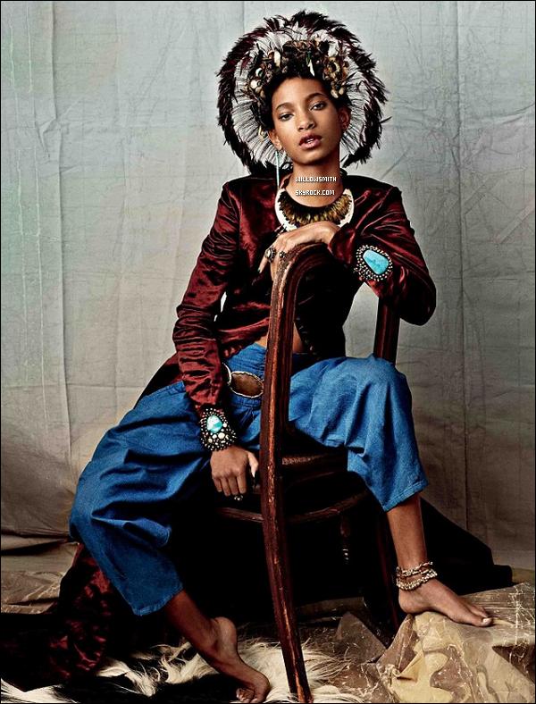 ......  Willow divine pour le magazine de mode « CR Fashion Book » par Carine Roitfeld.   Willow est parfaite, je n'ai aucun autres mots les photos sont mature et j'adore ça. Le shooting à été fait par le photographe Bjorn Looss ! ......
