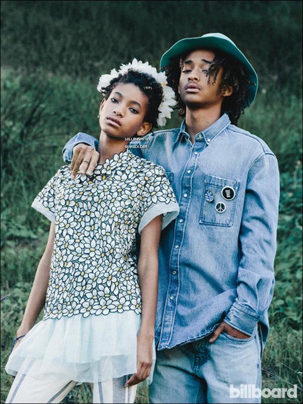 ......  Willow Smith et Jaden Smith pour le tout nouveau numéro du magazine « Billboard »   Les photos ont été réaliser par Laurel Canyon, un photoshoot très réussis on y vois la grande complicité entre Willow et Jaden ils sont parfait. ......
