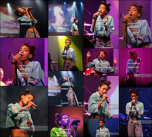 """. 18/06 : La belle Queen, à donner une performance pour le concert """"Danforth Music Hall"""" dans la ville de Toronto ! Willow était sublime, j'aime beaucoup sa tenue de scène, Willow a chanter plusieurs titres dont Whip My Hair, Female Energy etc.    ."""