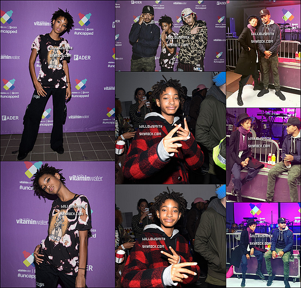 ". 03/10 : Willow à performer comme convenu au 5éme anniversaire du ""The Fader VitaminWater's"" à New York City. Willow était sublime sur scène durant le concert elle a chanté plusieurs de ses titres dont Female Energy et Why Don't You Cry (l)      ."