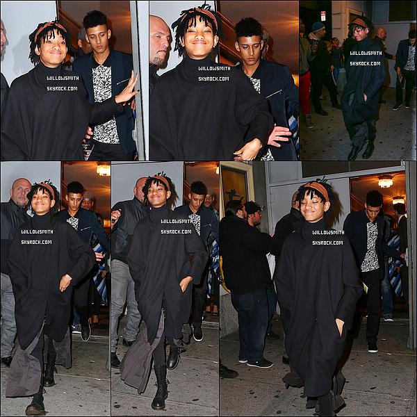. 12/03 : Willow, de retour aux Etats-Unis, à été aperçue faisant du shopping dans la ville de New-York avec un ami ! C'est maintenant à New-York que Willow a déposer ses bagages après un séjour à Paris. J'aime ce que porte notre nouvelle égérie.     .
