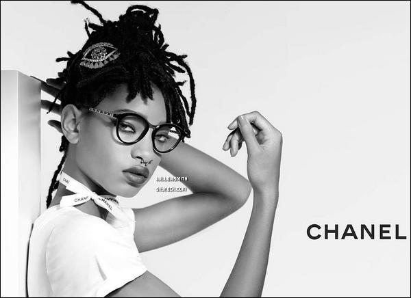 ......  Nouvelles photos de notre belle égérie pour « Chanel » pour la collection de lunettes !   Willow est si magnifique sur chacune des photos, la campagne est juste a couper le souffle willow y pose avec beaucoup de charisme j'adore ! Et toi ?     ......