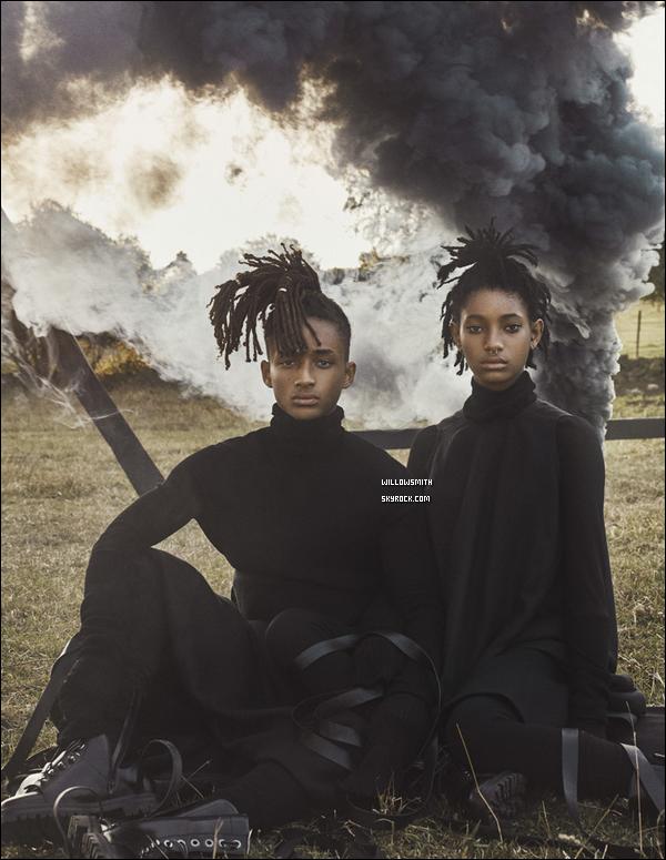 ......  Willow et Jaden pose pour le même magazine « INTERVIEW » pour le mois de sept'.  Je suis amoureux de ces nouveaux clichées faite à la perfection, des photos qui montre à quel point les deux sont inséparables prises par Steven Klein.     ......