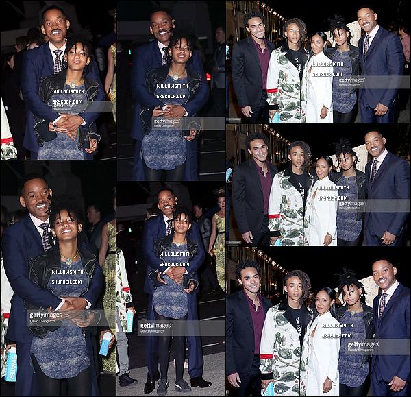 """. 22/10 : Willow et sa famille à la soirée de """"L'environmental Media Association EMA Awards"""" à Burbank en Californie. Les EMA Awards honorait les membres de la communauté du divertissement qui ont influencé la conscience environnementale de millions de personnes. Jaden a été honoré lors de l'événement avec le prix masculin EMA Futures, je suis très fière de lui congrat !     ."""