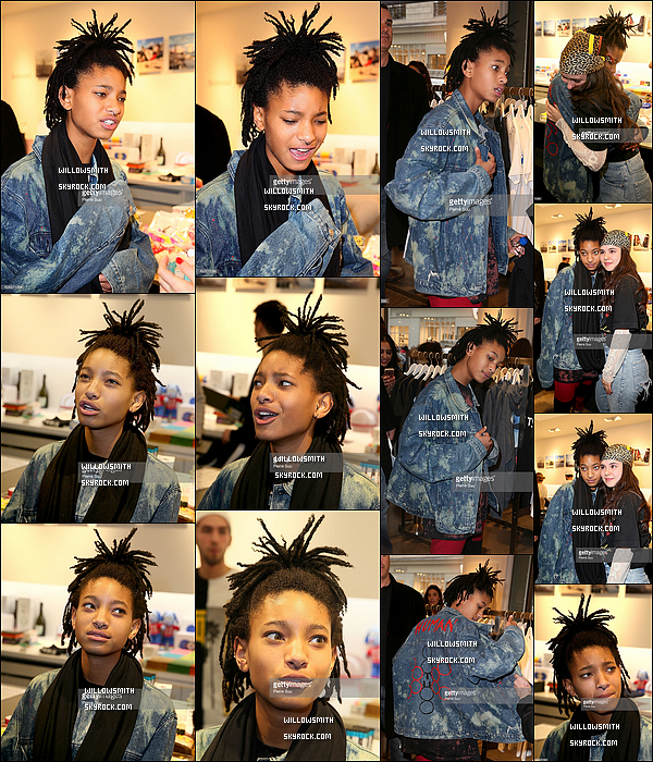 . 07/12 : Willow chez Colette pour faire la promotion de la nouvelle collection MSFTSrep.  Willow était tellement adorable avec les fans ♥ beaucoup de fans était sur place pour en savoir plus sur cette nouvelle collection !      .
