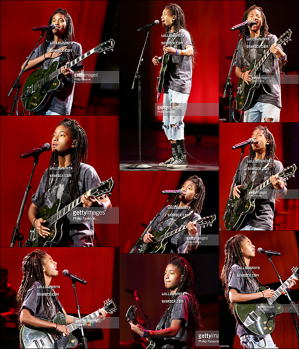 """. 19/08 : Willow s'est rendue à la soirée """"NYX Professional Makeup's 6th Annual FACE Awards"""" à Los Angeles - (CA) !  Durant l'évent était organisée un concert où Willow a chanter plusieurs de ses chansons dont """"Whip My Hair"""" au Auditorium Shrine.       ."""