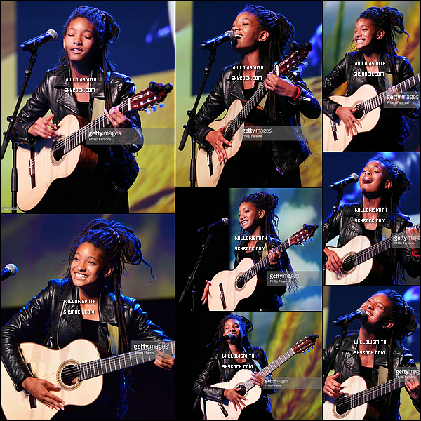""". 23/09 : Willow Smith et son frère Jaden se sont rendus à la cérémonie des """"EMA Awards"""" à Santa Monica, Californie.  Willow était tellement magnifique pohlala rien à dire.. Elle était tellement mignonne avec son frère j'aime trop leurs complicité !!         ."""