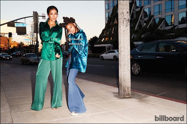 ......  Willow et Jhené Aiko photographiée le 23 Octobre pour le magazine « BILLBOARD ». Les deux artiste et copine, ont réalisée une séance photo de feu pour le photographe Nate Hoffman dans les rues de Estrella à West Hollywood, CA.      ......