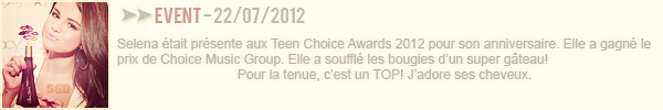 ∞ 2012 Teen Choice Awards & candids.