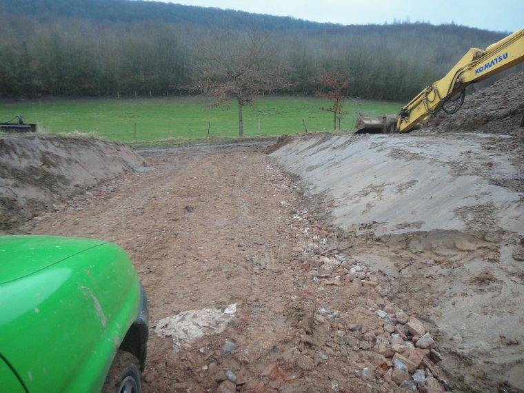Fin du terrassement et fondation coul e le 7 mars 2013 for Terrassement et fondation