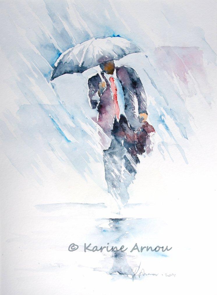 985; Sous la pluie