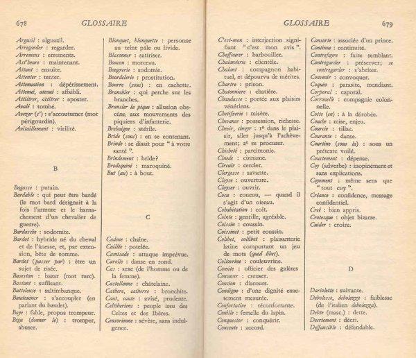 Vocabulaire du Haut Moyen-Age.