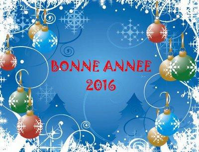 Bonne année à vous tous