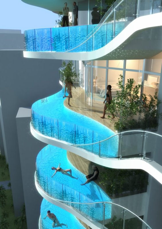 Apartments with Balcony Pools