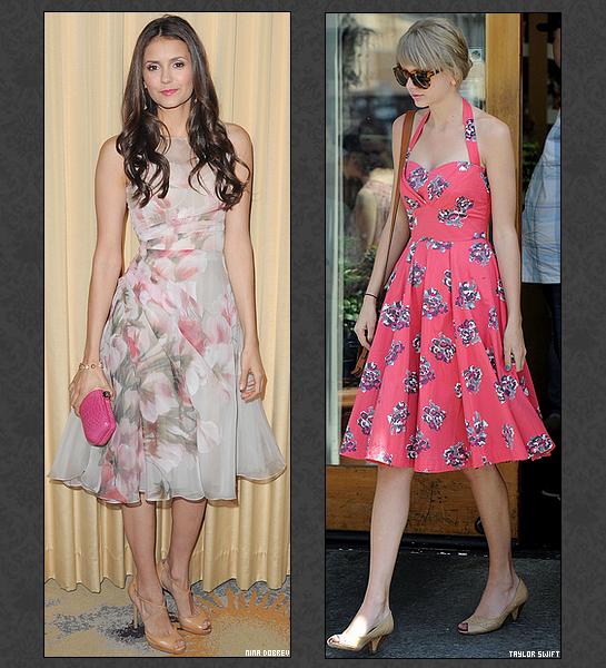 .::Humour::. Dans la catégorie de la meilleure mamie les nominés sont ... Elles sont belles, jeunes, jolies . Elles ont tout pour elles et tout pour plaire . Seulement, une robe de grand-mère, une robe qui grossit, un make-up qui vieillit, des talons pas terribles et en un jour elles prennent 10 ans . C'est le cas pour Nina Dobrev, Taylor Swift, Mary-Kate Olsen et Dianna Agron . Alors d'après toi qui a fait un flop monumental ? Je précise que les photos datent toutes de 2012 ;)