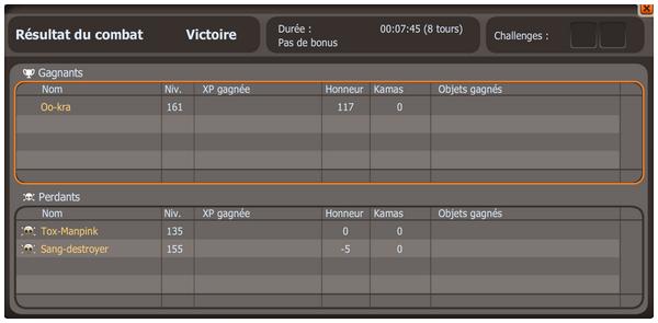 PVP Cra Kx-Sniper / 1er Dofus Ocre