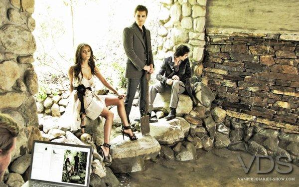 Elena, Stefan et Damon