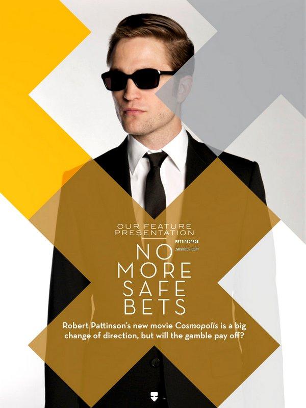 Rob dans Industria Magazine     J'aime bien celle où il porte des lunettes.. Et vous !?