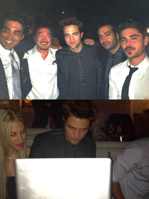 23 Juin 2012 : Robert dans le New Jersey  Robert et Kristen ont été invités au mariage du producteur Kevin Turen. Zac Efron et  Andrew Garfield étaient parmis les invités aussi.