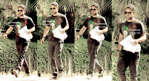 18 Juillet 2012 : Hollywood    Voici des photos de Robert allant dans les studios de Paramount à Hollywood.