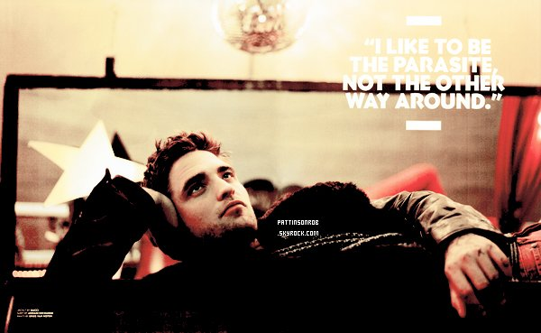 Photoshoot de Rob pour le magazine Black Book    J'adore ! Rob avec les tatouages etc je trouve que ça fait classe *o*
