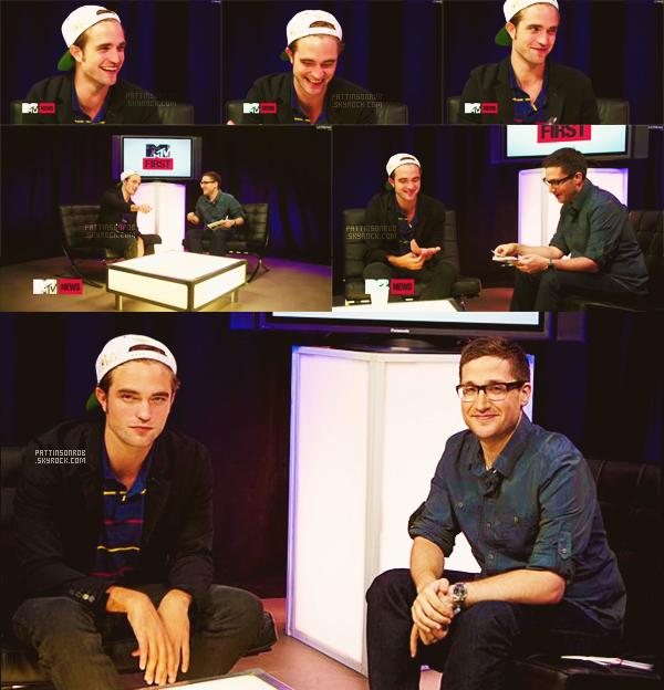 16 août 2012 : Rob interviewé par MTV First.    Beaucoup de news de robert en ce moment :)