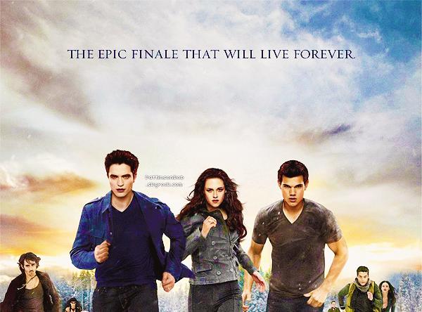 """Affiche officielle de Twilight - Breaking Dawn part 2.   J'aime bien sauf que je trouve quand meme trop de """"photoshopage"""" présent. Et vous, vous le trouvez comment ?"""
