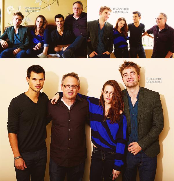 1 Novembre 2012 : Robert à la conférence de presse de BD2 à Los Angeles.       D'autre membres du cast étaient aussi présent. Robert est juste magnifique ! J'adore.