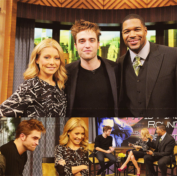 07/11/12 ||  Robert sur le plateau de l'emission The Today Show.