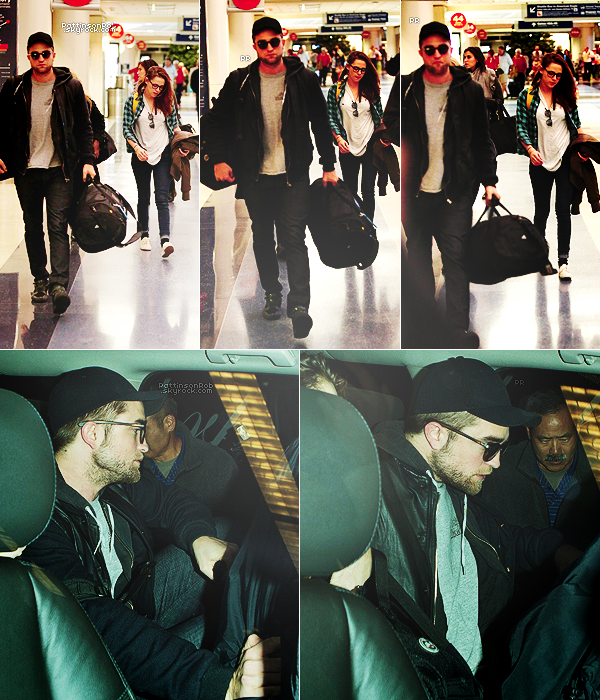 26/11/12 || Robert et Kristen quittant New York, pour Los Angeles.
