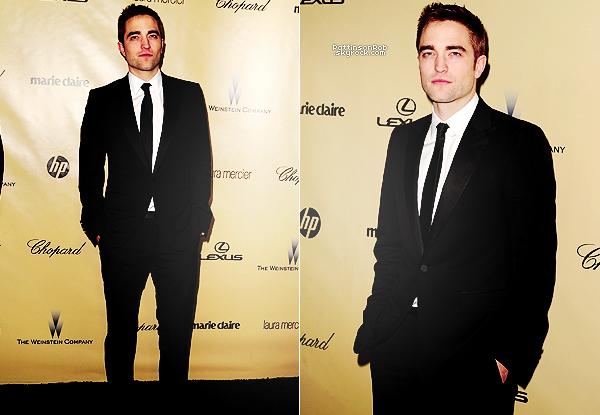 13/01/13 || Robert à la 70ème cérémonie des Golden Globes. Fraichement rasé, Rob toujours aussi beau dans son costume Gucci.