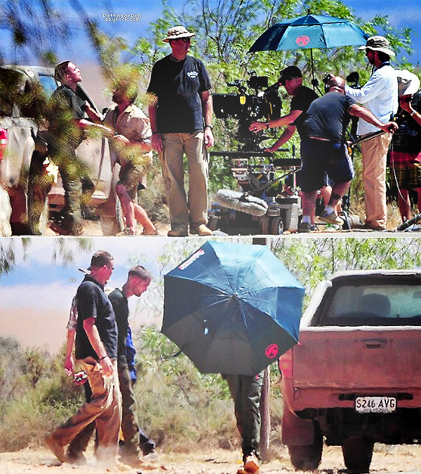 04/02/13 || Premières photos du tournage de « The Rover » qui se déroule en Australie. Il s'agit de la scène où  Robert s'éjecte du siège passager d'une voiture avant d'être frappé à terre par le conducteur.