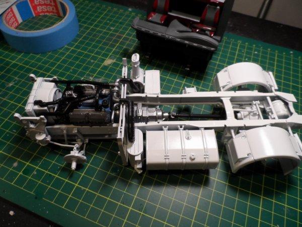moteur mis sur le chassis