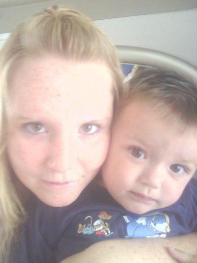 La c'est moi et mon fils