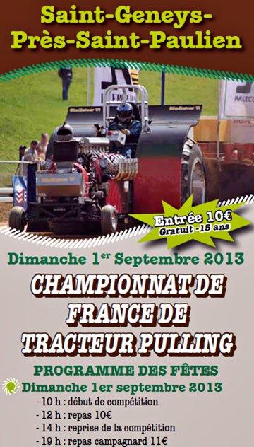 CHAMPIONNAT DE FRANCE DE TRACTEURS PULLING 2013
