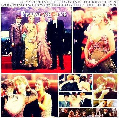 une avant-première splendide et très émouvante. Ils étaient tous sublimes et adorables, Emma, Rupert et JO' m'ont beaucoup émue.
