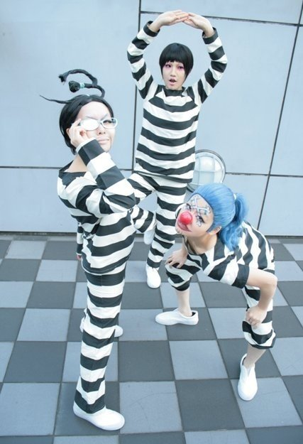 Cosplay Mr 2 Mr 3 et Baggy le Clown ( en prison )