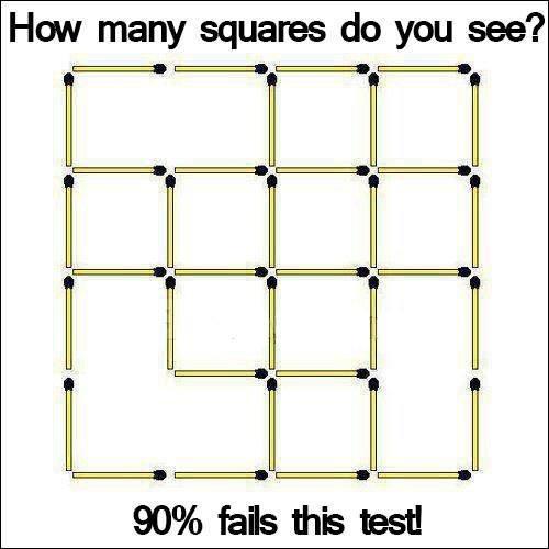 Combien de carré voyez-vous?