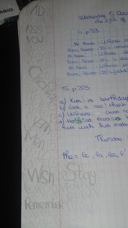 Mon cahier d'anglais fait par Manoouu