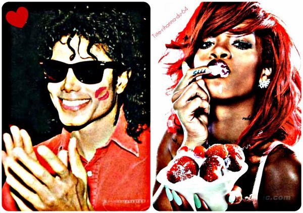 MJ et Rihanna (L)