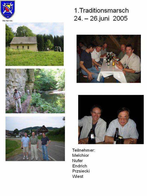1. Traditionsmarsch Wutachschlucht 24.-26.Juni 2005